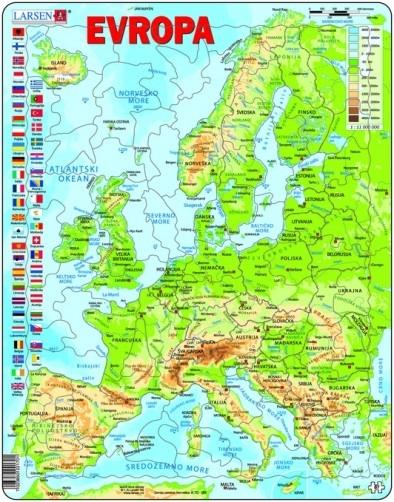 karta mora LARSEN PUZZLE   FIZIČKA KARTA EVROPE   | Delfi knjižare | Sve  karta mora
