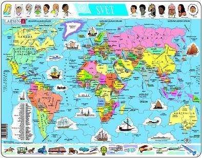 Larsen Puzzle Politicka Karta Sveta Delfi Knjizare Sve