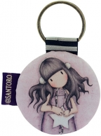 gorjuss round key ring - all these words