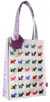 santoro eclectic - coated shopper bag - scottie dogs