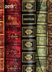 antique books magnetic diary 2015