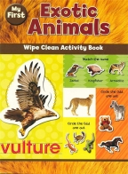 CH WIPE CLEAN ACTIVITY EXOTIC ANIMALS