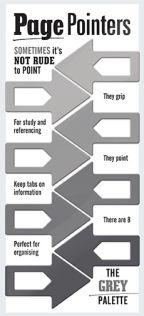 Page pointers Grey