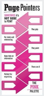 Page pointers Pink