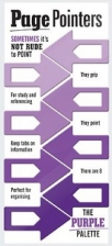 page pointers purple