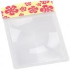 Lupa wallet size pink flower