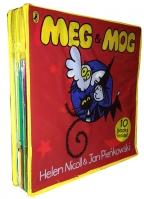 MEG AND MOG COLLECTION 10 CHILDREN BOOKS, GIFT SET IN ZIP LOCK BAG