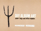 Diy Album Art: Paper Bags And Office Supplies