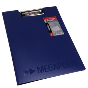 PVC Fascikla-podmetač sa štipaljkom Megapolis A4 - plavi