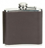Kikkerland - Leather Hip Flask, Brown