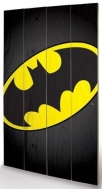 large wooden wallart - batman symbol