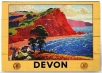 large wooden wallart - devon