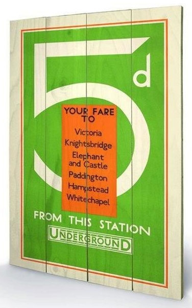 Large Wooden Wallart - London Transport
