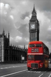 poster - london red bus