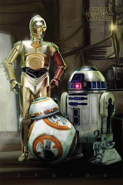 Poster - Star Wars Episode VII, Droids