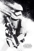 poster - star wars episode vii stormtrooper paint