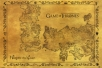 poster - game of thrones antique map