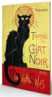 small wooden wallart - chat noir
