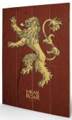 small wooden wallart - game of thrones - lannister