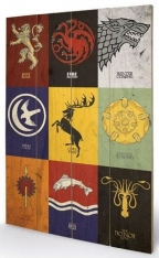 small wooden wallart - game of thrones - sigils