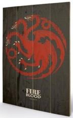 Small Wooden Wallart - Game of Thrones -Targaryen