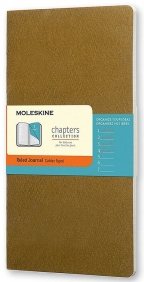 Moleskine - Chapters Journal, Tawny Olive, Large
