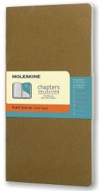 Moleskine - Chapters Journal, Tawny Olive, Medium