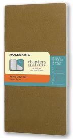 Moleskine - Chapters Journal, Tawny Olive