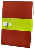 Moleskine - Set of 3 Notebooks, Cranberry Red - Extra Large
