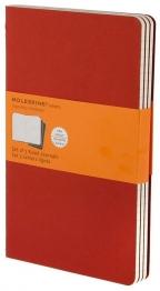 Moleskine - Set of 3 Notebooks, Cranberry Red - Large