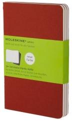 Moleskine - Set of 3 Notebooks, Cranberry Red