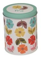 Metalna kutija za čaj - Mid Century Poppy