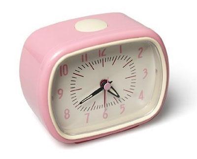 Retro sat sa alarmom - pink