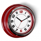Zidni sat - crveni
