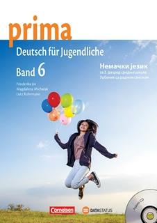 Prima 6, nemački jezik, udžbenik sa radnom sveskom za 2. godinu srednje škole