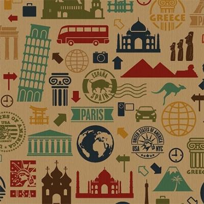 Ukrasni papir 70 x 100 - Travels