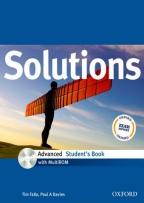 Solutions, Advanced Student's Book, with Multirom Pack, engleski jezik, udžbenik za 4. godinu srednje škole