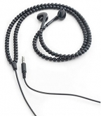 earbuds black beads