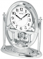 Stoni sat Rhythm with Moving Crystal Effect Pendulum in Silver