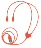 Dual Heart iPhone Charging Cable
