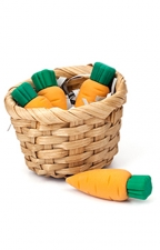 Carrot Erasers In Basket S/4
