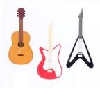 Vinyl Magnets Guitars