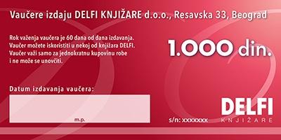 Vrednosni vaučer - 1000 dinara