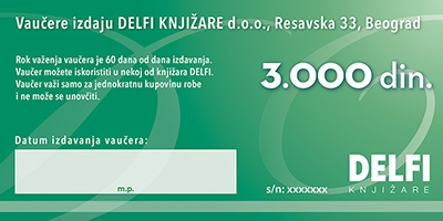 Vrednosni vaučer - 3000 dinara