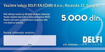 Vrednosni vaučer - 5000 dinara