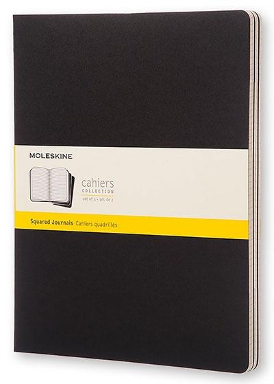 Agenda - XXL Cahier Black - kvadratići