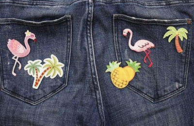 Iron On Patch - Tropical, Set Of 5