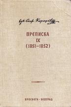 Prepiska IX (1951-1952)