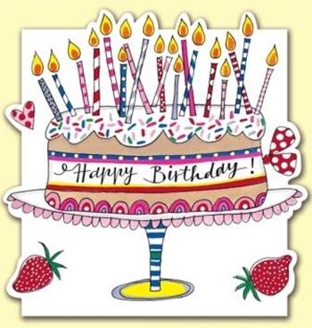 Čestitka Happy Birthday Cake and Candles