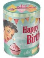 Kutija za novac - Say it 50's birds happy birthday